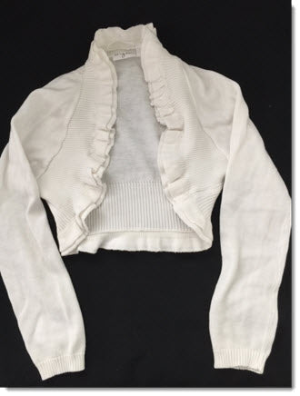 Girls knit bolero with frills