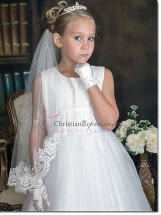 Lace First Communion Veil