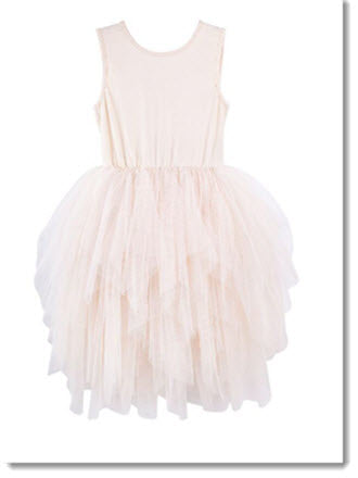 Melody tulle dress -  Beige