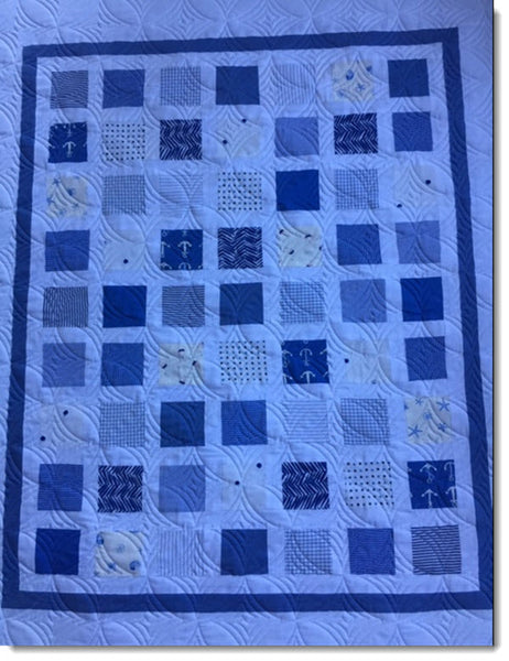 Patchwork cot quilt/play mat - Nautical Nights