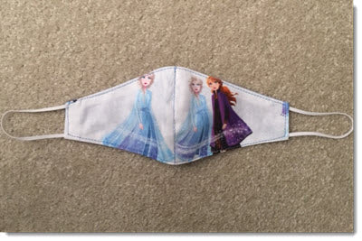 Kids -  Frozen Reversible Face Mask