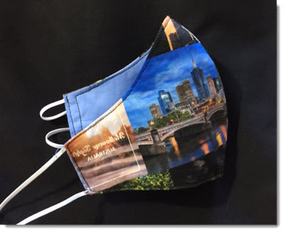 Melbourne Sights Reversible Face Mask