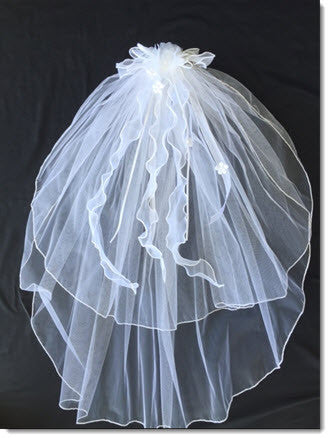 First Communion Veil Tasha - Little Angels Couture - 1