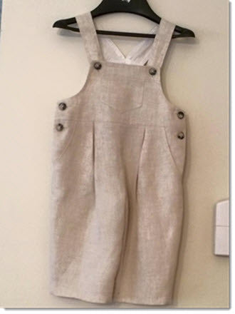 Purple Pips - Natural Linen Overalls