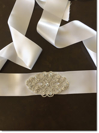 Ribbon belt with Diamantes