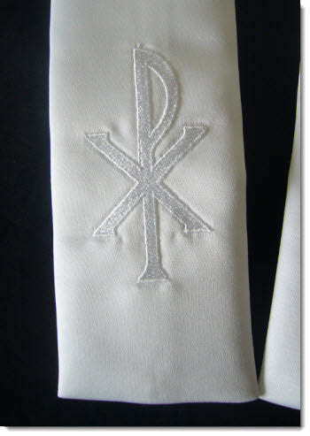Baptism stole with cross - Little Angels Couture - 2