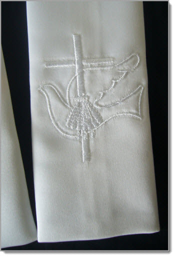 Baptism Stole with Dove and Cross - Little Angels Couture - 2