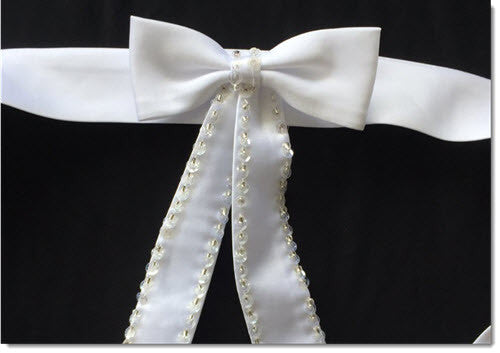 Sequin Bow Belt