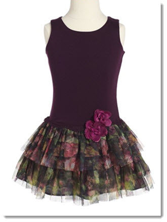 901 Floral Print Drop Waist Dress - Little Angels Couture - 1