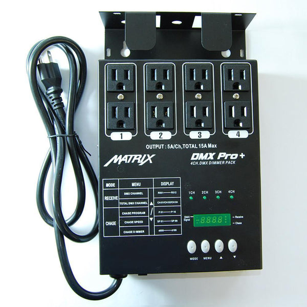 MATRIX DMX PRO Dimmer Pack 4 Channel Double Output MATRIX-DMX-PRO