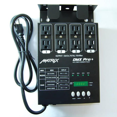 MATRIX DMX PRO 4 Channel Double Output Dimmer Pack - MATRIX-DMX-PRO