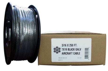 Black Hot Dip Galvanized Steel Cable 2G9B250-00250