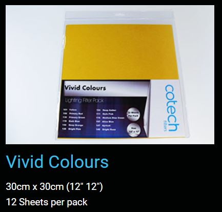 VIVID Colours COTECH FILTERS GEL PACK