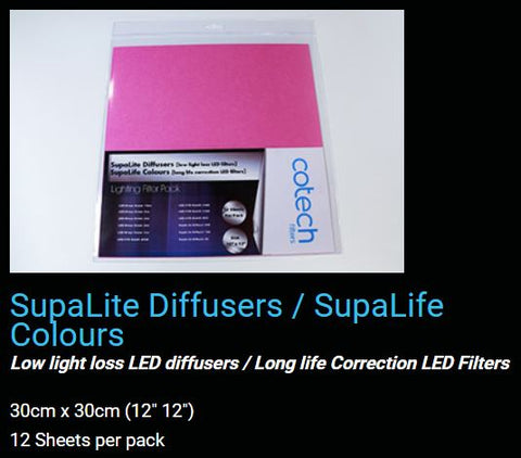 SupaLiTe DIFFUSE SupaLiFe Colours COTECH FILTERS GEL Pack