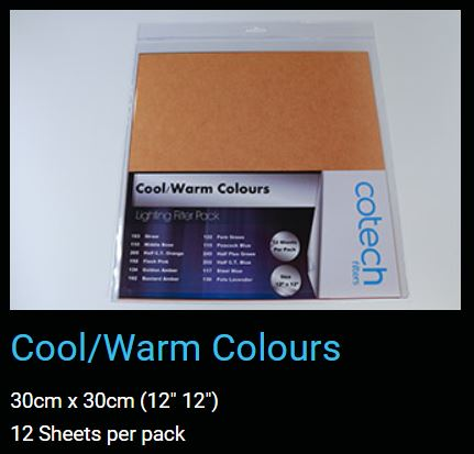 Cool Warm Colours  COTECH GEL FILTER PACK