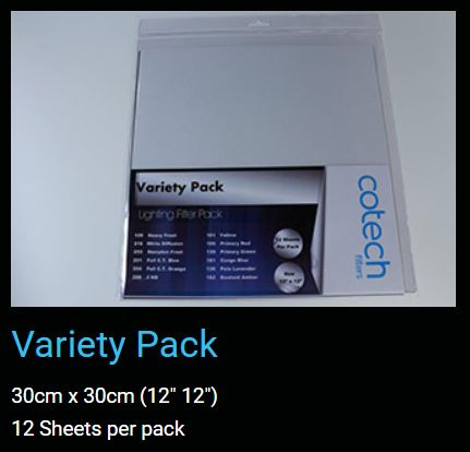 VARIETY Pack COTECH FILTERS GEL Pack