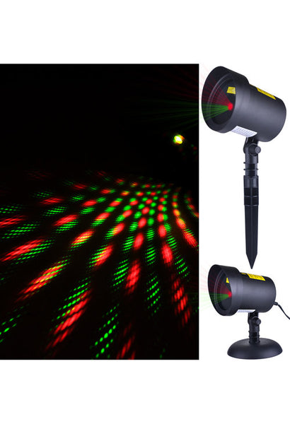 "Outdoor Red & Green Laser ""Stars"" with Motion LAS6041"