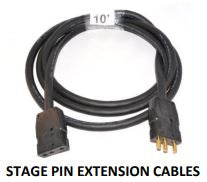 X05SP-P Pintech 20A Stage Pin Cable 5'