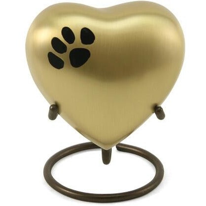 Classic Paw Bronze Heart Keepsake-Memorials-Sorrento Valley Pet Cemetery