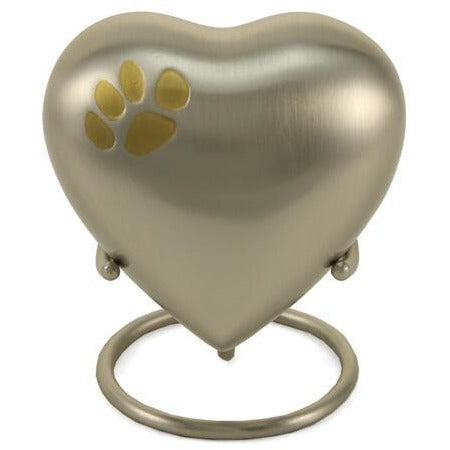 Classic Paw Pewter Heart Keepsake-Memorials-Sorrento Valley Pet Cemetery