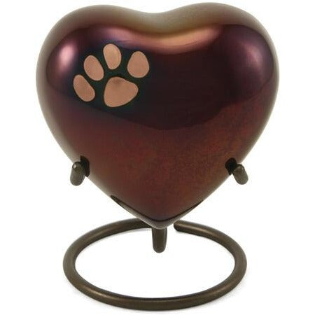 Classic Paw Raku Heart Keepsake-Memorials-Sorrento Valley Pet Cemetery