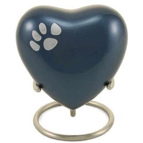 Odyssey Moonlight Blue Heart Keepsake-Memorials-None-Sorrento Valley Pet Cemetery