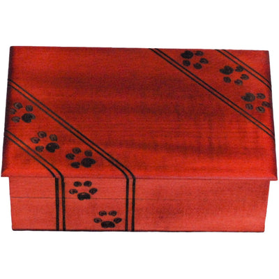 Cherry Pawprint Box Urn-Urns-Large-Sorrento Valley Pet Cemetery