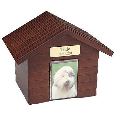Doghouse Urn One size for all pets-Urns-Walnut-Personalized-Sorrento Valley Pet Cemetery