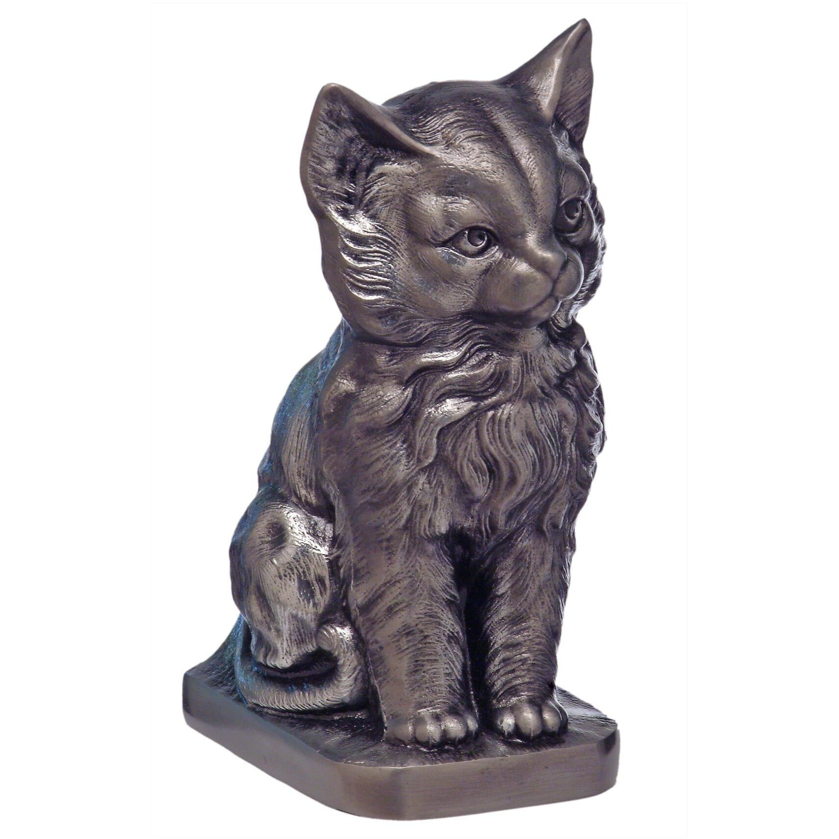 Metal Cat Urn - Pewter..25 Cubic Inches-Urns-Sorrento Valley Pet Cemetery