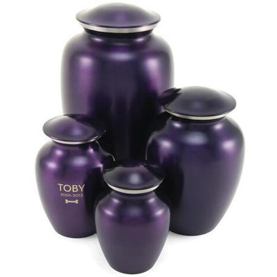 Classic Pet Crimson Violet-Urns-Small (85)-Sorrento Valley Pet Cemetery