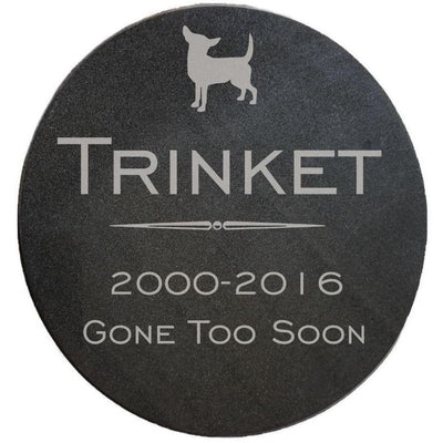 Round Granite Tile + Engraved-Memorials-Sorrento Valley Pet Cemetery