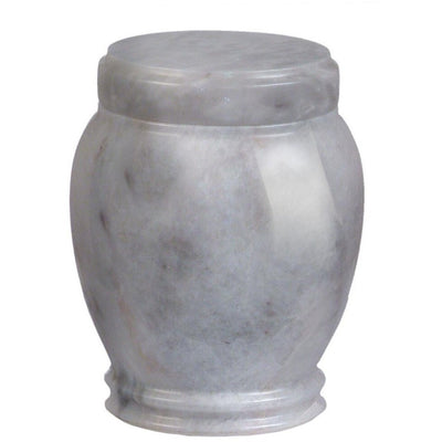 "5.25"" Plain Marble Urn - 35 cubic inches-Urns-White-Sorrento Valley Pet Cemetery"