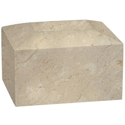 Rectangular Marble Urn - 50 Cubic Inches-Urns-Botticino-Sorrento Valley Pet Cemetery