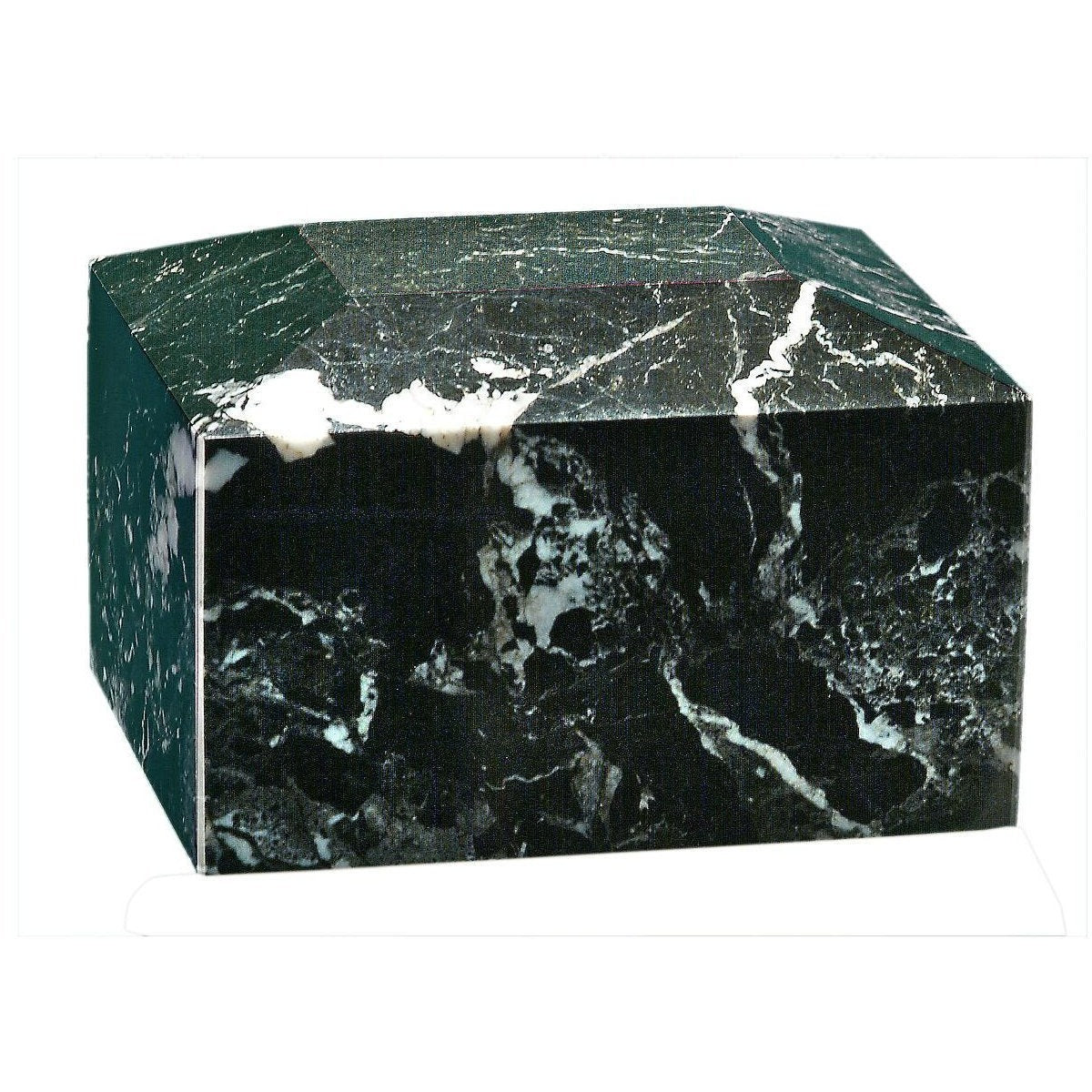 Rectangular Marble Urn - 50 Cubic Inches-Urns-Black Zebra-Sorrento Valley Pet Cemetery