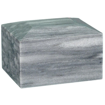 Rectangular Marble Urn - 50 Cubic Inches-Urns-Grey-Sorrento Valley Pet Cemetery