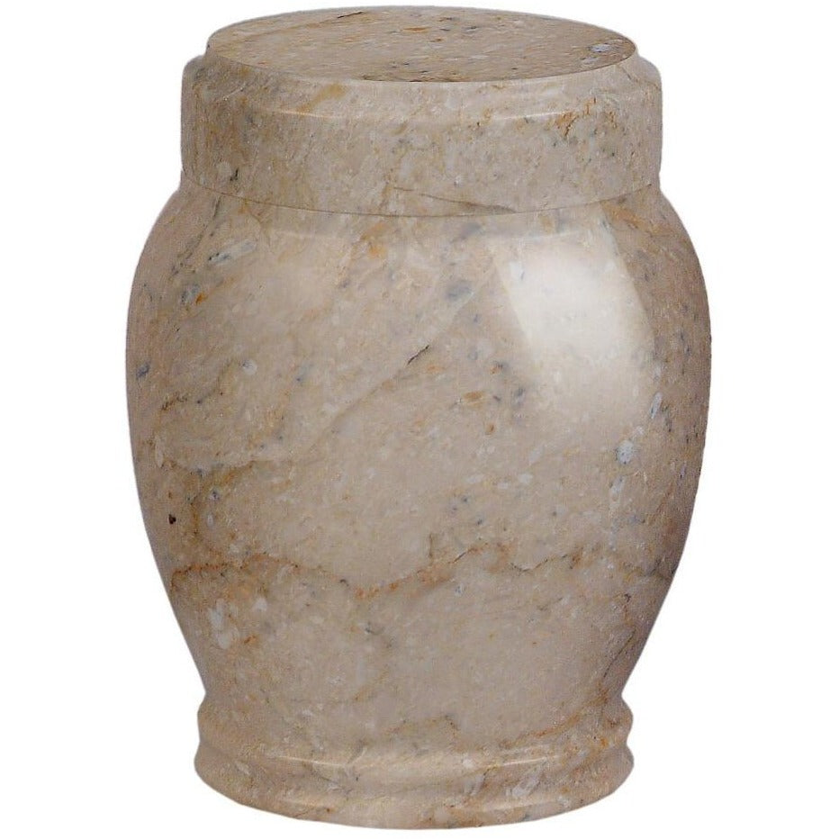"5.25"" Plain Marble Urn - 35 cubic inches-Urns-Botticino-Sorrento Valley Pet Cemetery"