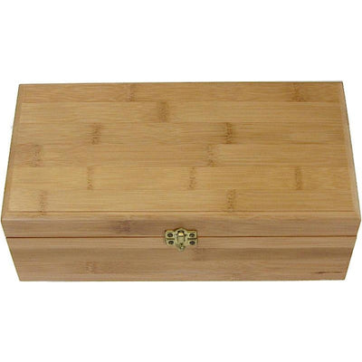 Bamboo Box Urn - Hinged Lid <br>(Optional Engraving)-Urns-Large-None-Sorrento Valley Pet Cemetery