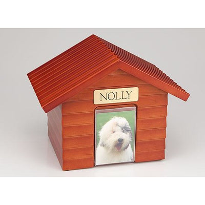 Doghouse Urn One size for all pets-Urns-Redwood-Personalized-Sorrento Valley Pet Cemetery