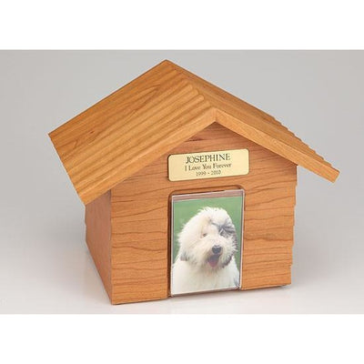 Doghouse Urn One size for all pets-Urns-Natural-Personalized-Sorrento Valley Pet Cemetery
