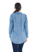 Cheap Monday Behave Denim Shirt (Thrift Blue) - ChicStyle