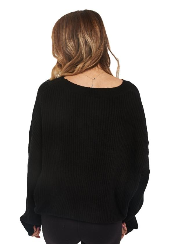 Just Female Corn Knit (Black) - ChicStyle
