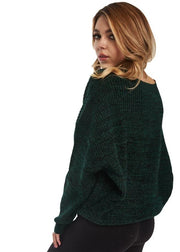 Just Female Corn Knit (Evergreen Melange/Green) - ChicStyle