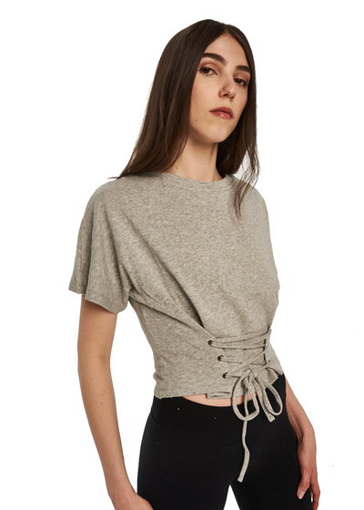 MINKPINK Corset Sweat Top *Flip It And Reverse It* (Grey Marle) - ChicStyle