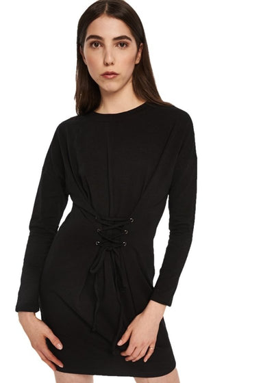 MINKPINK Corset Tee Dress (Black) - ChicStyle