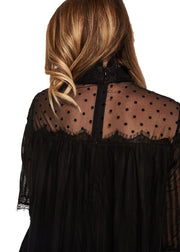 MINKPINK Dark Romance Lace Top (Black) - ChicStyle