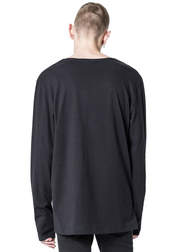 Cheap Monday Gazer Long Sleeve *Organic Skull Tee (Black) - ChicStyle