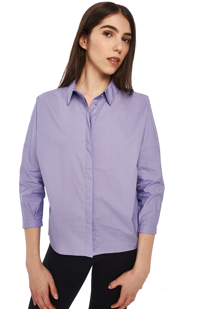 Just Female Kei Shirt (Lavender/Purple) - ChicStyle