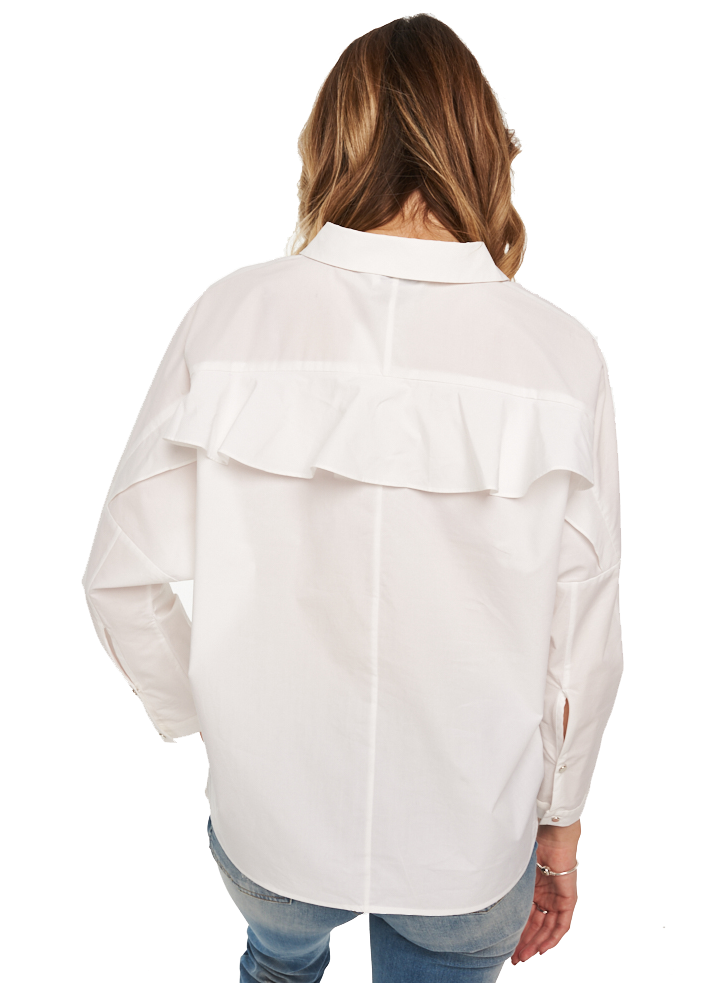 Just Female Kei Shirt (Optical White) - ChicStyle