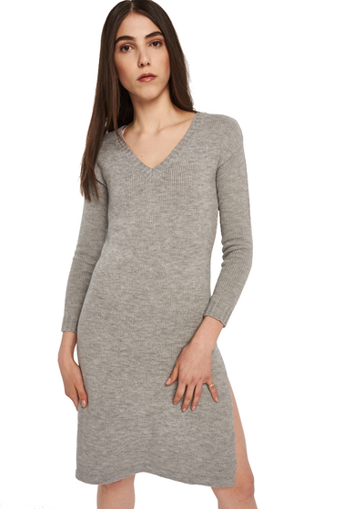 MINKPINK Labyrinth Maxi Knit Dress (Grey) - ChicStyle