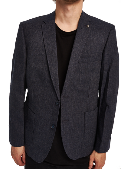 Ben Sherman Micro Textured Blazer (Dark Navy) - ChicStyle